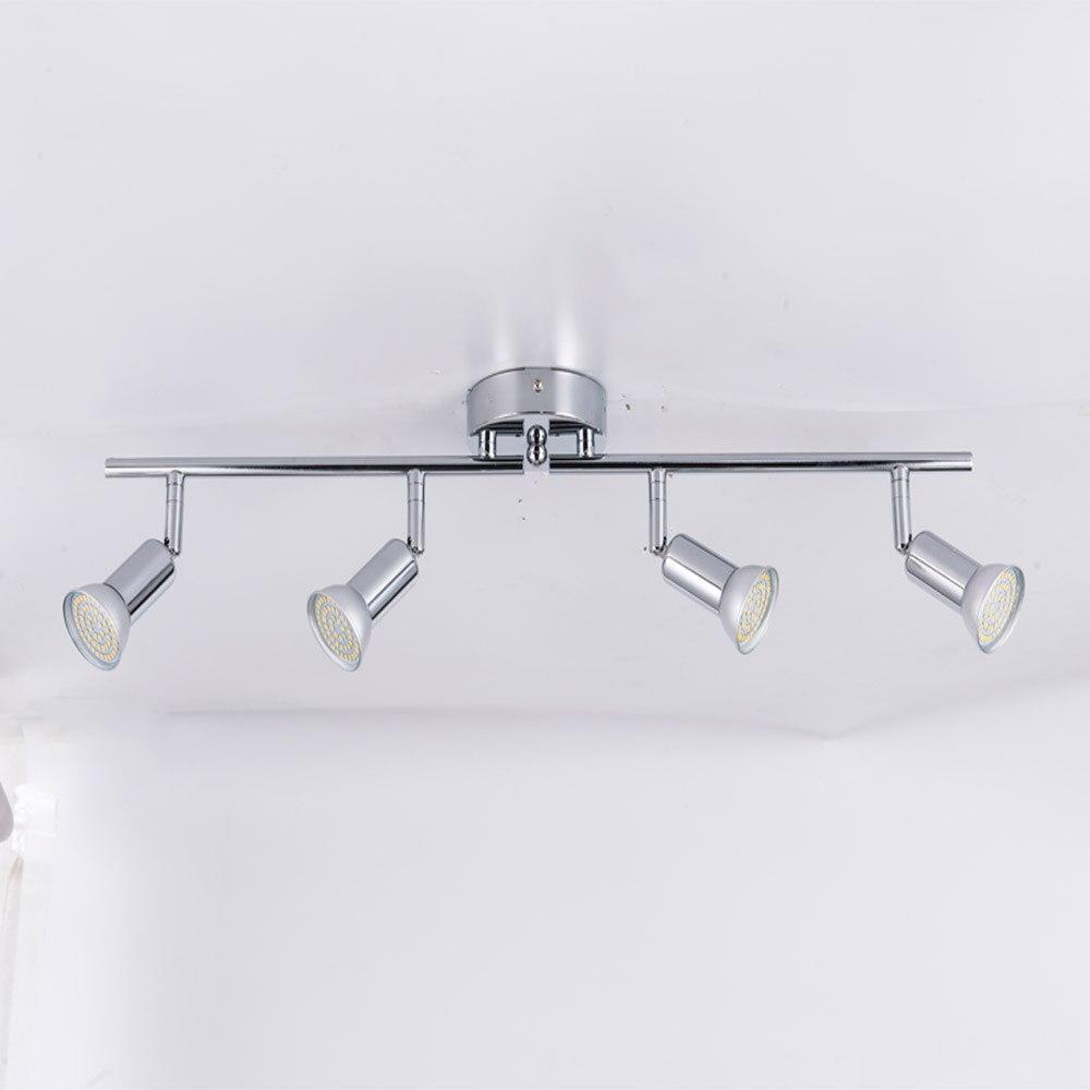 Rotatable led תקרת אור זווית מתכוונן showcase מנורת עם GU10 led הנורה סלון LED קבינט ספוט תאורה