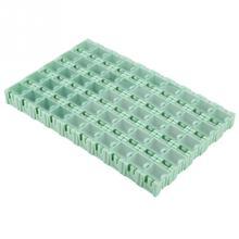 50 шт. Зеленый SMT SMD контейнер коробка электронные компоненты самоблокирующиеся пряжки мини-чехол для хранения