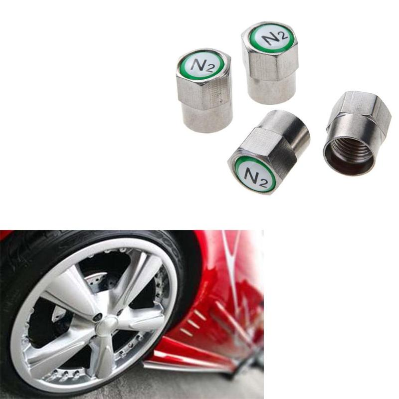 White White Crown Chrome Plated Car Wheel Tire Tyre Valve Dust Caps Covers Tire Set of 4