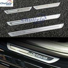 Добро пожаловать педаль, дверной порог для Skoda Octavia A5 A7 2007 2008 2009 2010 2011 2012 2013 2014 Нержавеющая сталь автомобильные аксессуары