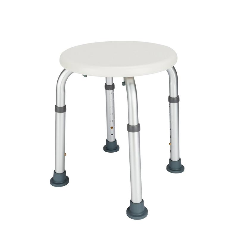 Shower Chair Seat Bench Stool Aluminum Alloy Elderly Bath Chair Round Stool With Sucker Armrest Medical Supply Dropshopping