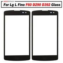 Para lg l fino f60 d290 d392 d290n d295 d390 frente exterior reparação da lente de vidro da tela toque vidro exterior