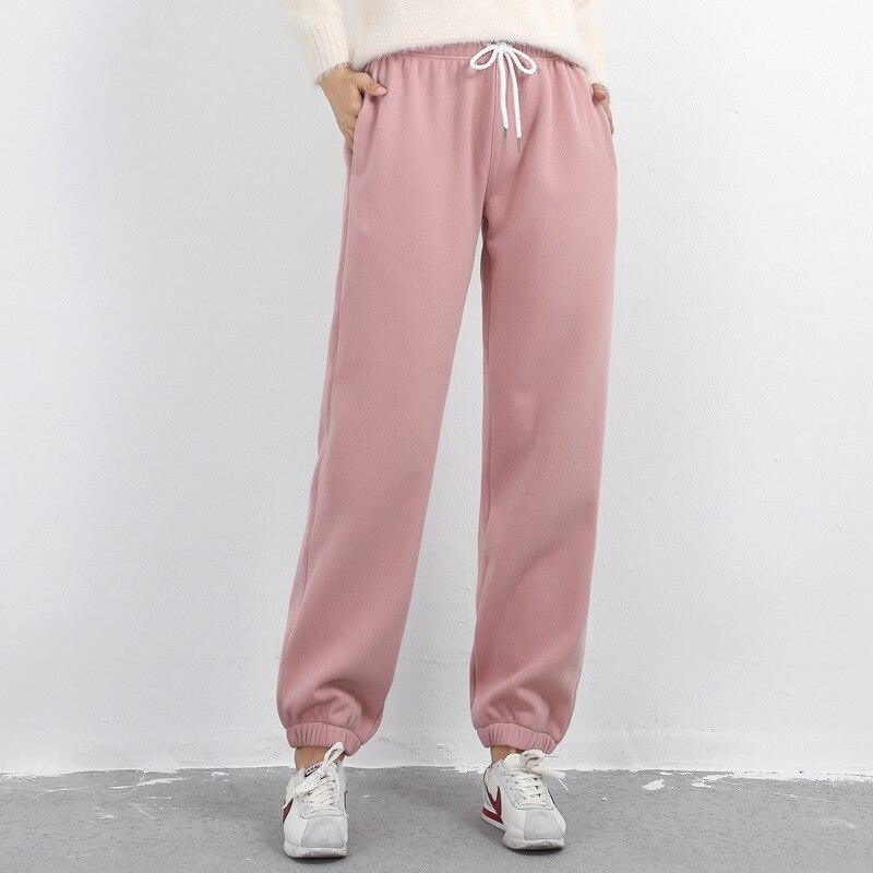אוהד Lang מכנסי קז'ואל חורף של 2018 נשים תחתונים להתחמם מכנסיים, femal מכנסיים מכנסיים נשים של גודל ספורט מכנסיים