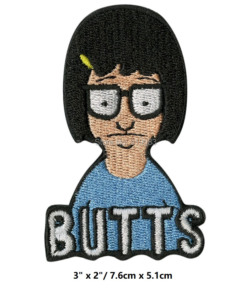 3 Tina Belcher Bob s Burgers Inspired Iron On Patches for clothing Embroidered TV MOVIE applique