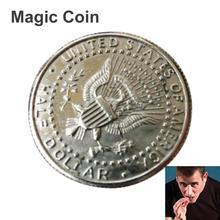 Волшебные монеты и бумажные деньги кусается восстановленная Иллюзия монета для волшебного шоу кусанная монета полдоллара монета волшебника