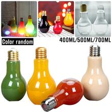 2018 Innovative Light Bulb Fruit Juice Bottles High Quality Portable Cute Juicer Milk Water Bottle Colorful LED Drinkware Cups