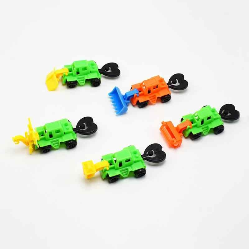 1 PC Mini Kendaraan Teknik Mobil Traktor Dump Truk Model Montessori Pendidikan Mainan untuk Anak-anak Natal Hadiah Set Warna Acak