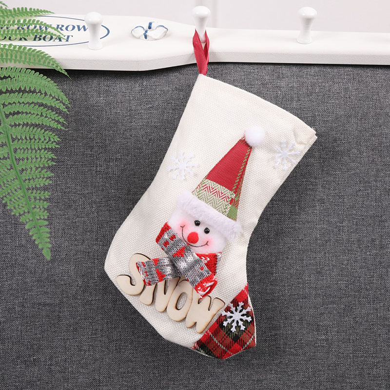10 Pcs Lot Santa Claus Elk Snowman Style Christmas Xmas Socks Stockings Decorations Christmas Candy Gift Bags for Home Tree 2018 in Stockings Gift Holders from Home Garden