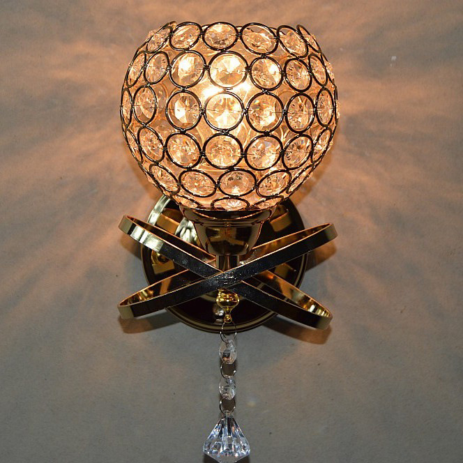 YOOK 2018 Gratis Verzending Bed Licht LED Wandlamp Kristal Wandlamp Crossing Licht Transparante Muur Lampen - 4