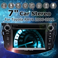 7 2Din dvd плеер 3g gps NAV стерео bluetooth Радио Indash мультимедийный плеер для Toyota RAV4 2006 2007 2008 2009 2010 2011 2012