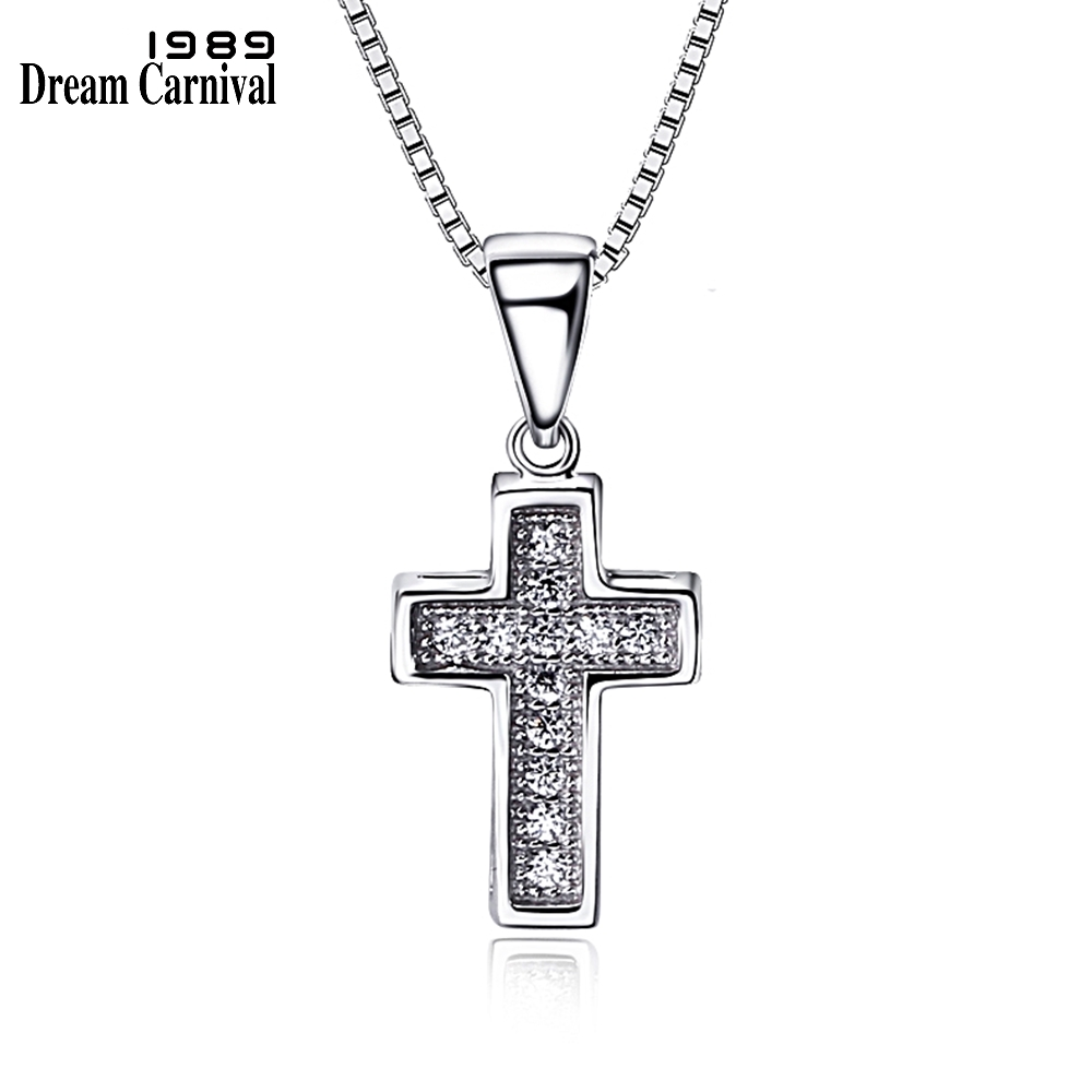 1c166ad96f58 DreamCarnival 1989 Hot Gift Cross Shape Religion Design Sterling silver 925  Jewelry AAA Cubic Zircon Pave