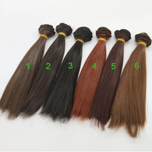 1PCS DIY Dolls Wig Hair Doll BJD Straight Accessories