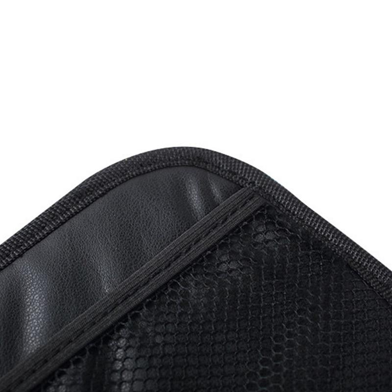 Phone Holder Storage Bag Universal Car Stick-up Mesh Net Organizer Pouch Black