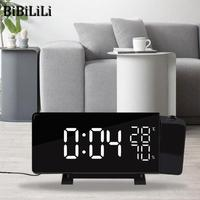 Hot Projection Alarm Clock Digital Date Snooze Function Color LED FM Radio Alarm Projection Clock With Time Projection Projector