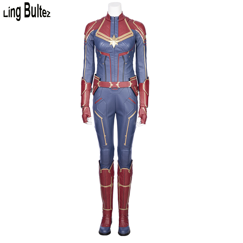 Ling Bultez High Quality Captain Marvel Costume Newest Captain Marvel Outfit For Halloween