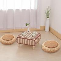 Handmade Weave Tatami Straw Cushion Balcony Floor Thick Rattan Cushions Zafu Meditation Grass Futon Round Cushion Handmade Weave
