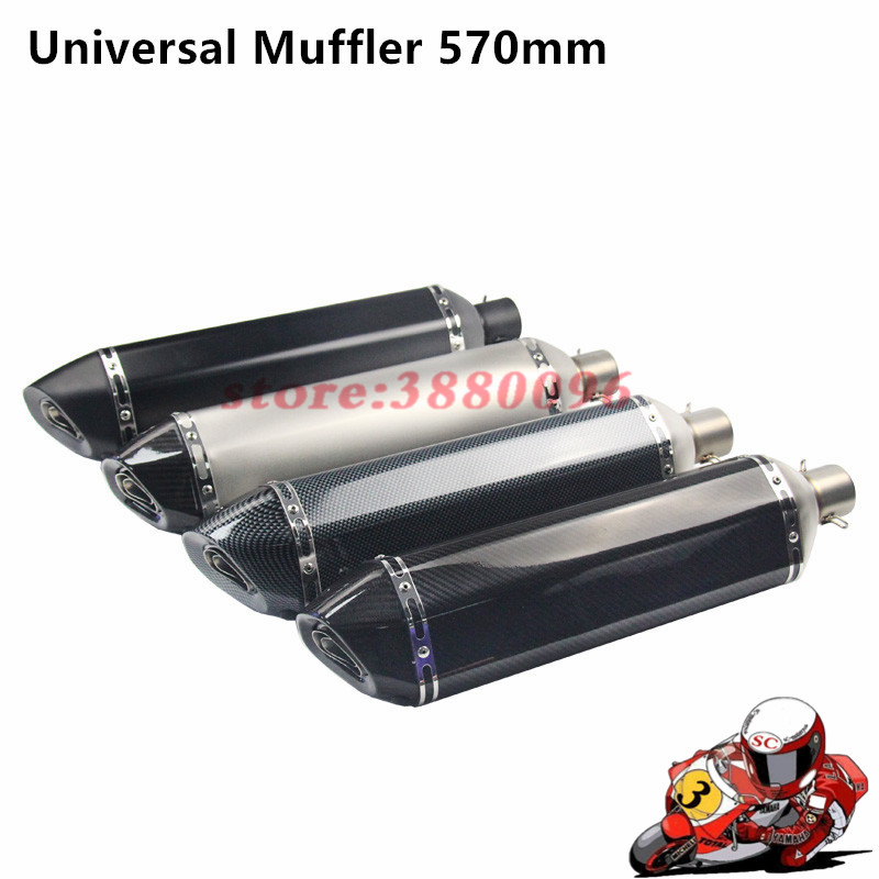 Motorbike Universal 35-51MM Exhaust Sticker Muffler Pipe 570mm Escape Fit For Most Motorcycle ATV 125-1000cc Nice SoundMotorbike Universal 35-51MM Exhaust Sticker Muffler Pipe 570mm Escape Fit For Most Motorcycle ATV 125-1000cc Nice Sound