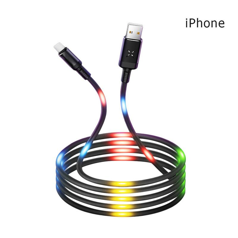 Considerate Music Streaming Data Line 6s7p Fast Charging And Tremble 8x Network Red Magic Horse Lamp Sound Control Belt Breathing Lamp Structural Disabilities Data Cables