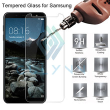 Tempered Glass For Samsung J6 Plus Protective Glass For Samsung J4 J8 J6 PLUS A8 A6 J3 J5 J7 2018 Phone Screen Protector Film(China)