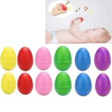 SEWS-12pcs пластиковые яичные шейкеры набор 6, Ударные музыкальные маракасы яйца Детские ударные инструменты дети ритм игрушки