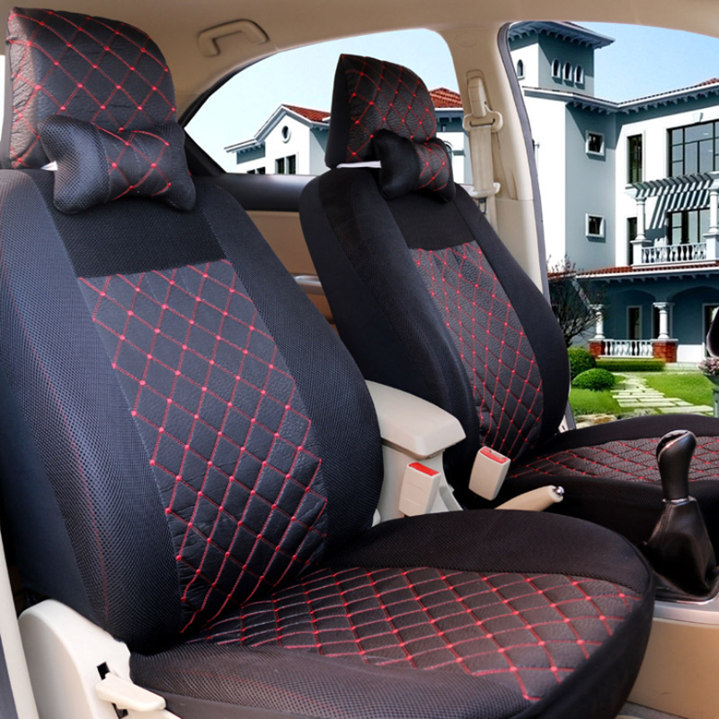 Universal Automobile Seat Cover Breathable Car Five-seats Covers Chair Protective Pad General Suitable For Kia Rio X Line Ford title=