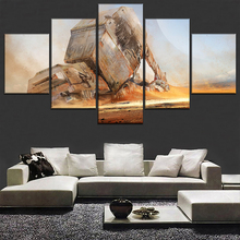 Home Decor Canvas HD Printed Painting 5 Panel Movie Star Wars Vintage Wall Art Picture Framework Living Room