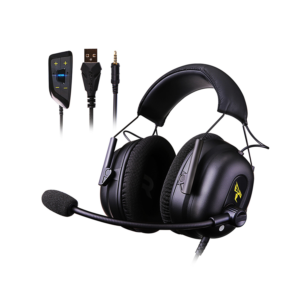 docooler SOMIC G936N Game Headsets 7.1 Virtual Surround Sound Headphone with Mic USB 3.5mm Noise Cancelling for PUBG LOL PS4 PC