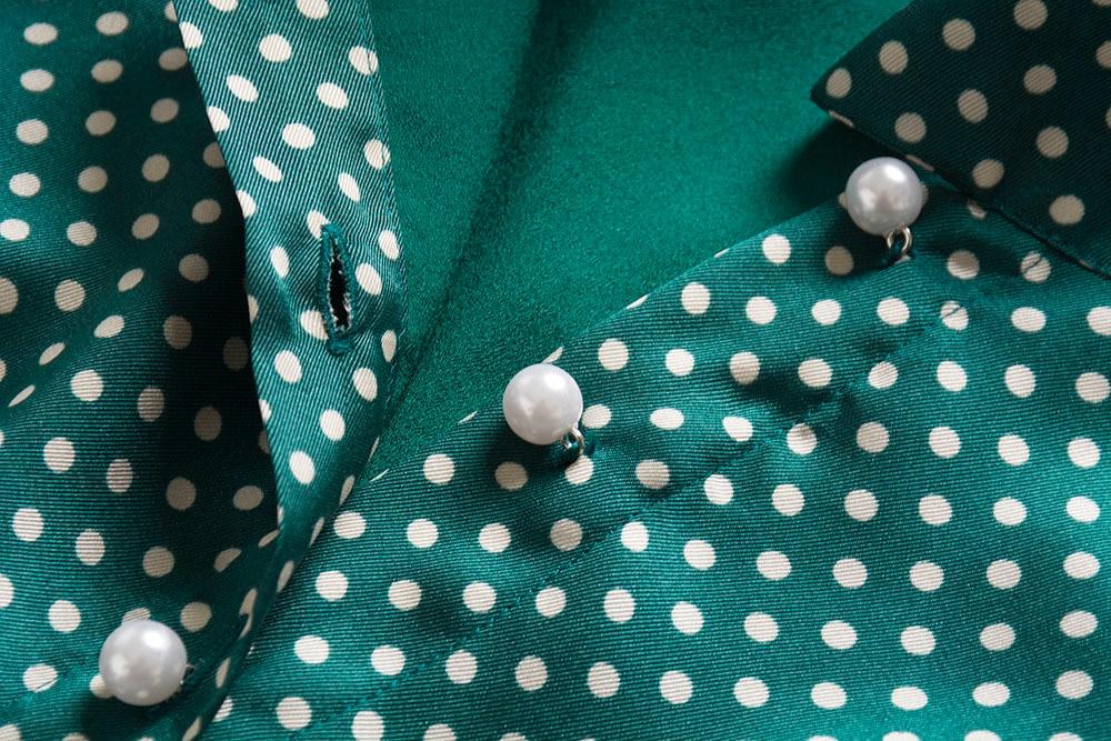 Pois Femme Princesse Printemps Travail Robes 2019 De Cou Vêtements Élégantes Arc Manches Porter À Kate Robe Des Middleton Np0233j Longues pXqXSg7