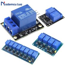 DC 5V 1 2 4 8 Ein Kanal Relais Modul Board DC 5V Low Level für SCM Haushalts appliance Control für Arduino DIY Kit(China)