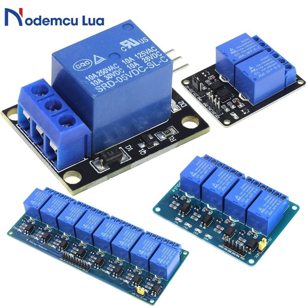 DC 5V 1 2 4 8 One Channel Relay Module Board DC 5V Low Level for SCM Household Appliance Control for Arduino DIY Kit