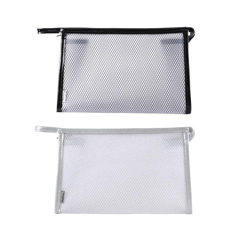 Travel Transparent Makeup Bags Mesh Storage Bag 2018 Fashion Style Portable Travel Casual  Washable Large Capacity Cosmetic Bag