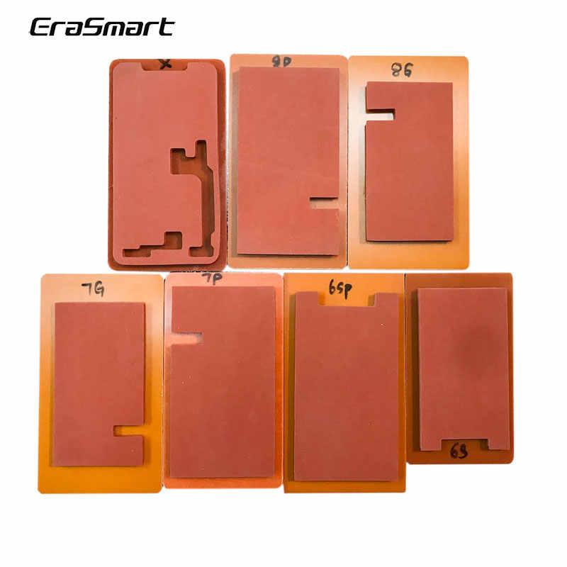EraSmart ekran LCD odnowiony Lmainator mata Pad dla iPhone 8 Plus szkło przednie z ramą Laminator formy mata silikonowa