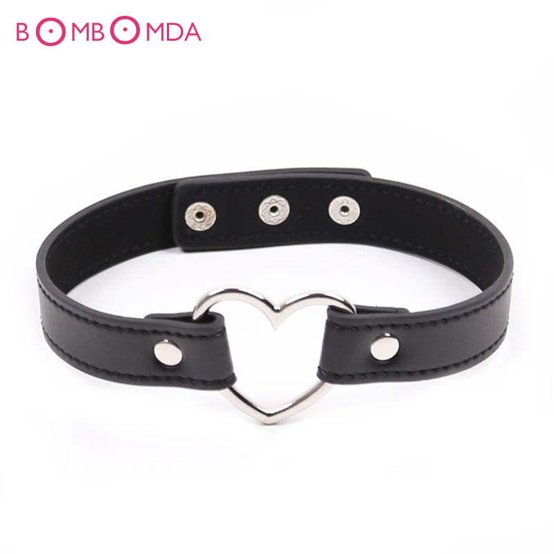 Sexy Collar Heart Style Neck Ring Sex Toys For Couples Bondage Belt Adult Games Role Play Sex Products Necklace