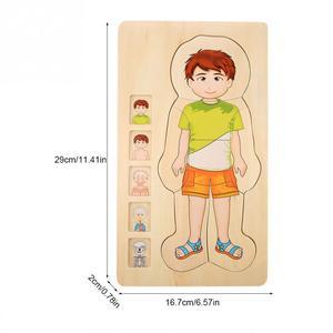 Image 4 - أطفال خشبية لغز لعب هيكل جسم الإنسان متعدد الطبقات لعبة الطوب الطفل التعليم المبكر ذكي التعلم الإدراك لعبة