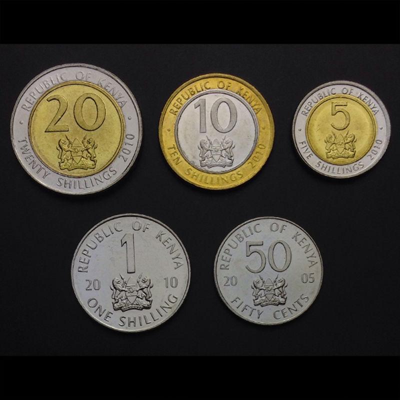 ETHIOPIA SET 5 COINS 1 5 10 25 50 CENTS 2010 UNC