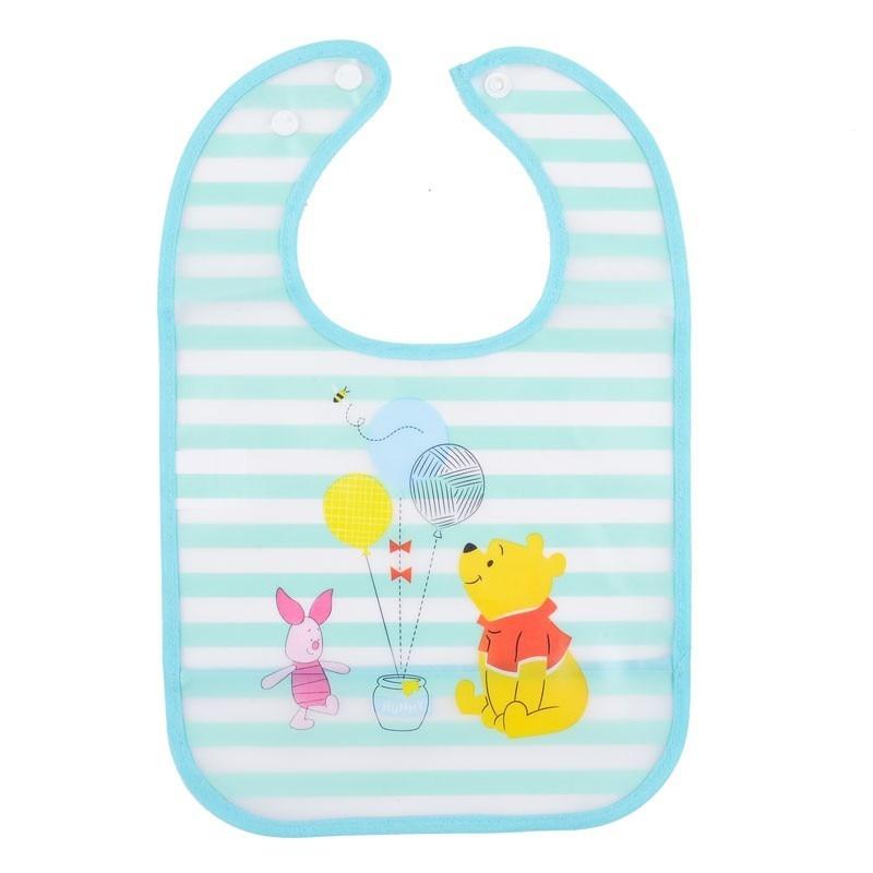 Disney Easy Wipe Cute Baby Bib Apron For Toddler Mickey Minnie Princess
