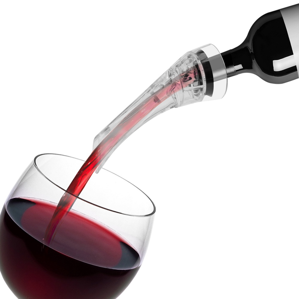 Quick Pouring Wine Aerators and Wine Aerating Pourer with Filter Made with Acrylic and Silicone