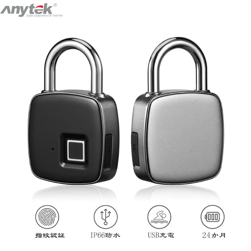 Alarm Systems & Security Initiative Anytek P3 Smart Keyless Fingerprint Lock Ip66 Waterproof Usb Rechargeable Electronic Padlock Door Luggage Bags Anti-theft Lock A Complete Range Of Specifications