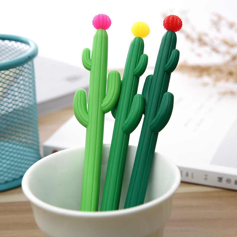 إلين بروك 1 قطعة القرطاسية الكورية لطيف Kawaii الصبار هلام القلم مكتب اللوازم المدرسية مقبض رواية الإبداعية هدية
