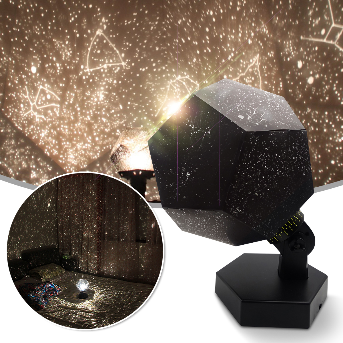 Cosmos Night Light Lamp Christmas Romantic Astro Star Sky Laser Projector Birthday Gift Home Decor PET ABS Metal Battery Powered