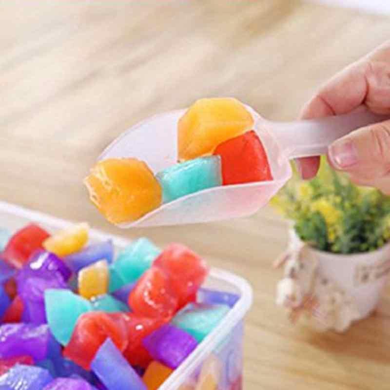 5 قطعة البلاستيك الجليد مجرفة المطبخ الدقيق الغذاء الحلوى الآيس كريم مغرفة الحلوى Pelles Bonbons الفاصوليا المجارف أدوات بوفيه حفلة