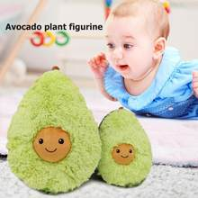 Avocado Plush Toys Cute Cotton Stuffed Dolls Fruits Cushion Girls Baby Soft New Year Pillow For Kids Children Christmas Gift(China)