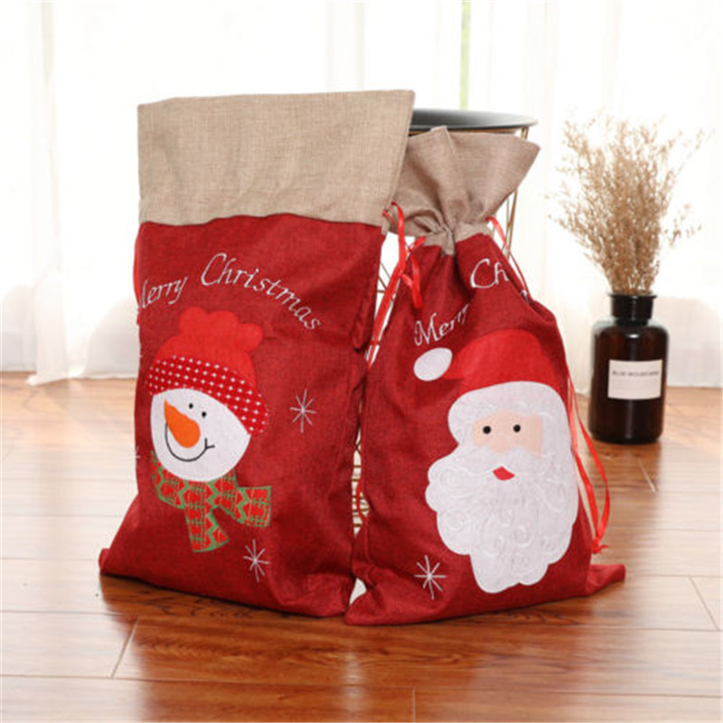 Christmas Santa Sack Gift BagSnowmanPersonalised