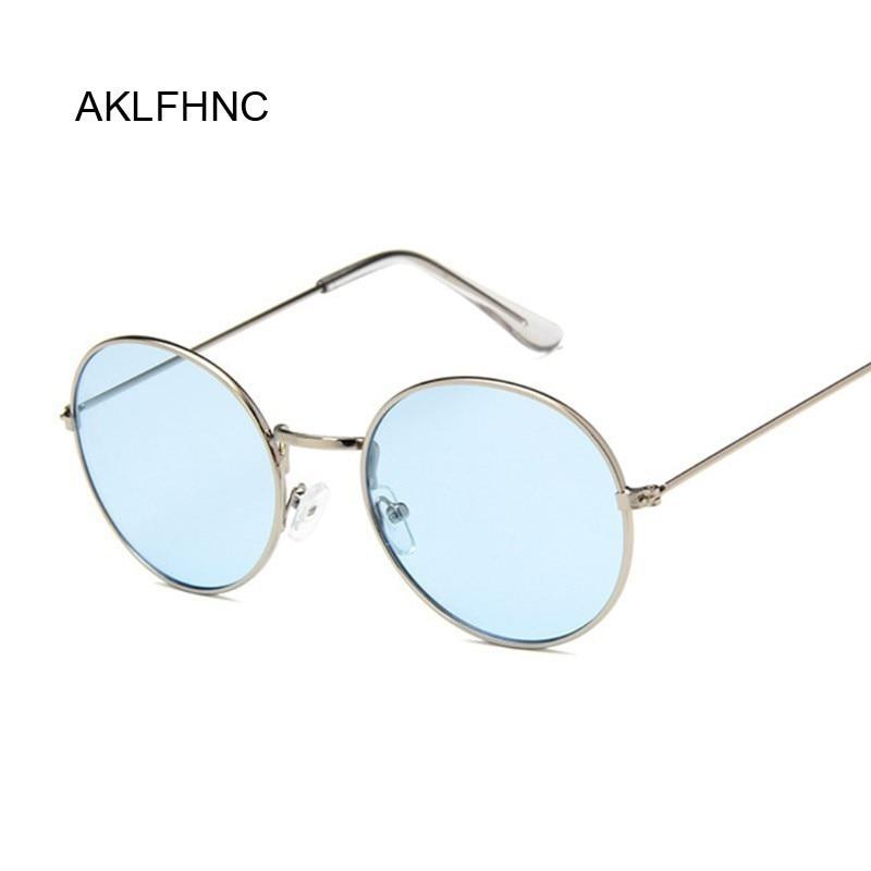 Retro oval óculos de sol das mulheres dos homens marca designer uv400 vintage metal quadro óculos de sol masculino moda feminina lunette soleil femme