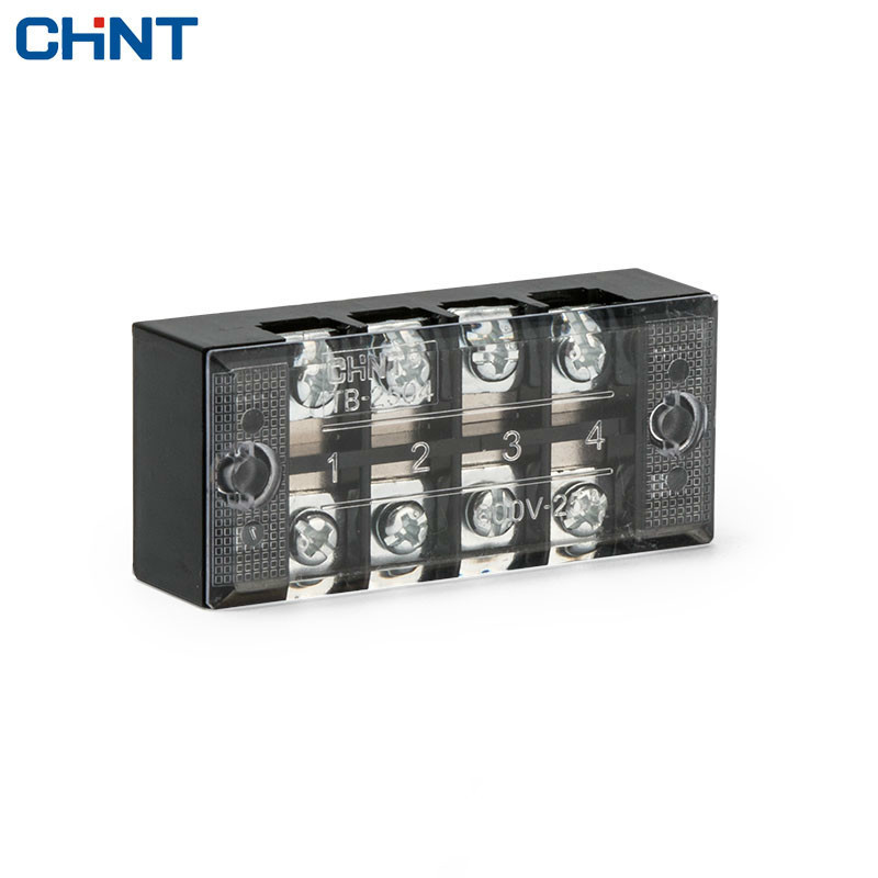 CHINT Dual Row 4 Position Connection Terminal TB 2504 Group Type Connection Row Connection Terminal Link Row 25A in Connectors from Lights Lighting