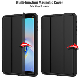 Image 4 - Case For Samsung Galaxy Tab A A2 2018 10.5 inch T590 T595 T597 SM T590 Smart Cover Funda Tablet Hard Skin Stand Shell +Film+Pen