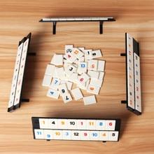 Родитель-ребенок интерактивные игрушки игры портативный цифровой настольная игра Израиль маджонг Rummikub 106 плитки семья путешествия цифровая головоломка