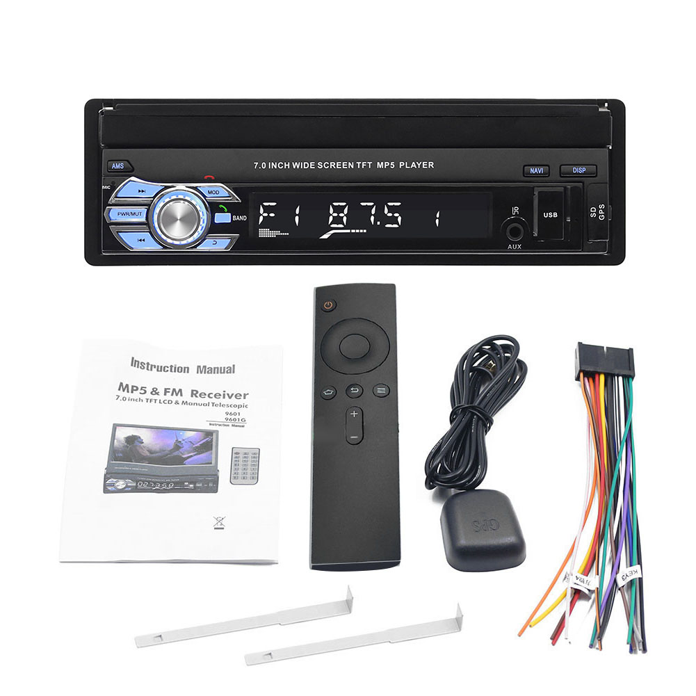 Universal 1 Din Car Multimedia Player Auto Car Audio Stereo FM Radio Gps Navigation Bluetooth 7 Inch HD Retractable Autoradio Universal 1 Din Car Multimedia Player Auto Car Audio Stereo FM Radio Gps Navigation Bluetooth 7 Inch HD Retractable Autoradio