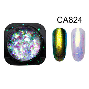 Image 5 - Yucca Flakes for Nails Glitter Powder Paillette Chameleon Nail Flakes Yuki Mirror Power Nail Design Sequins for Nails SF3043