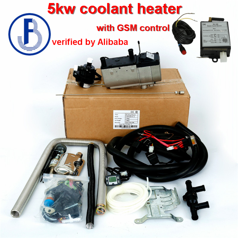 New With Gsm Control Liquid Parking Heater 5kw 12v Gasoline Water Pump Outside For Vehicles